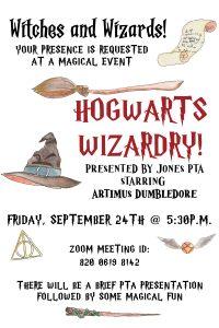 Hogwarts Wizardry Virtual Family Event / PTA Association Meeting