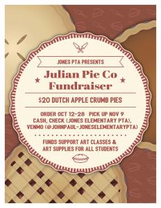 Julian Apple Pie Fundraiser